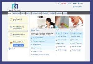 Medinformatix appointments screen